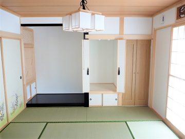 純和風の和室<br>建て主様こだわりの和室はこの写真以外にも雪見障子やランマ、書院などがついてます。
