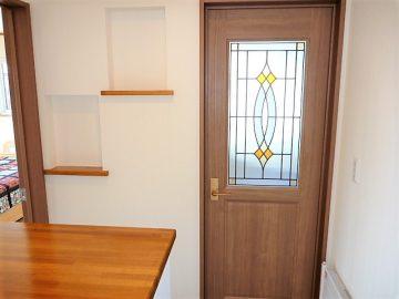 ドアもオシャレです。